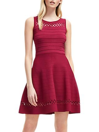 French Connection Crepe Knit Fit Flare Dress