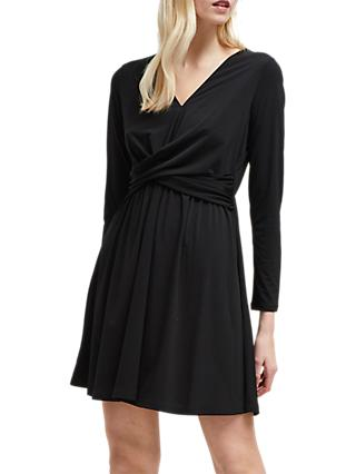French Connection Jersey V-Neck Dress, Black