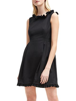 French Connection Alvina Stretch Tie Waist Dress, Black