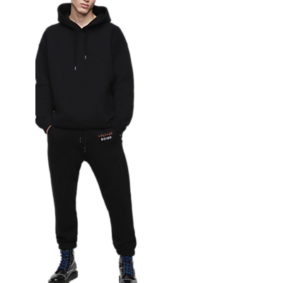Diesel Graphic Logo Sweatpants, Black