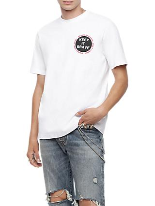 Diesel T-Just Graphic Print Short Sleeve T-Shirt, White