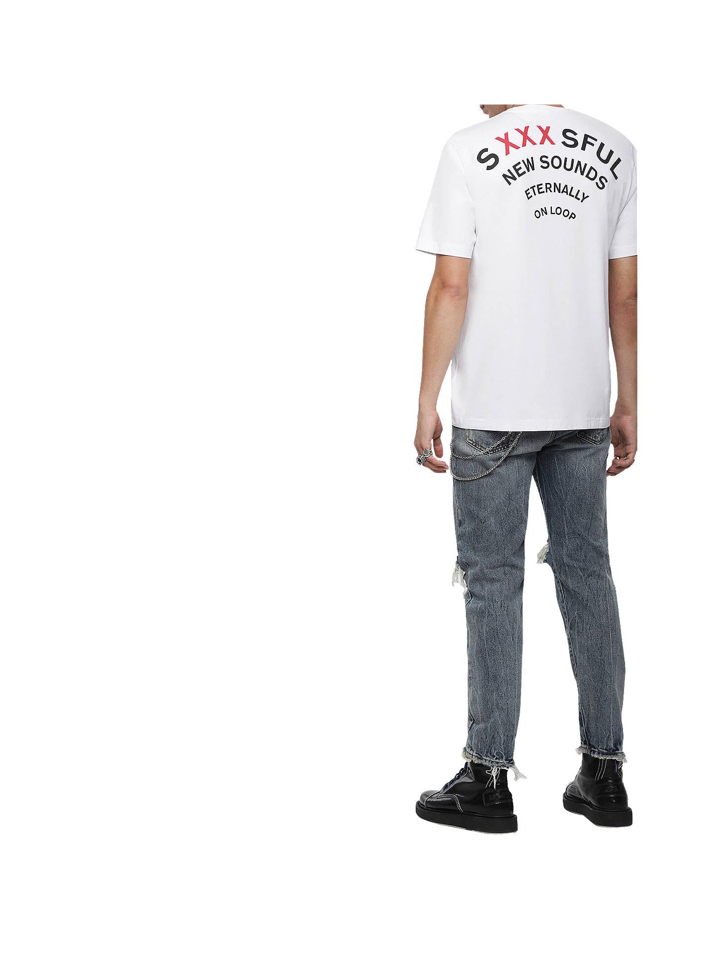 eb722233 ... Buy Diesel T-Just Graphic Print Short Sleeve T-Shirt, White, M ...