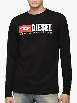 Diesel Denim Division Long Sleeve T-Shirt, Black