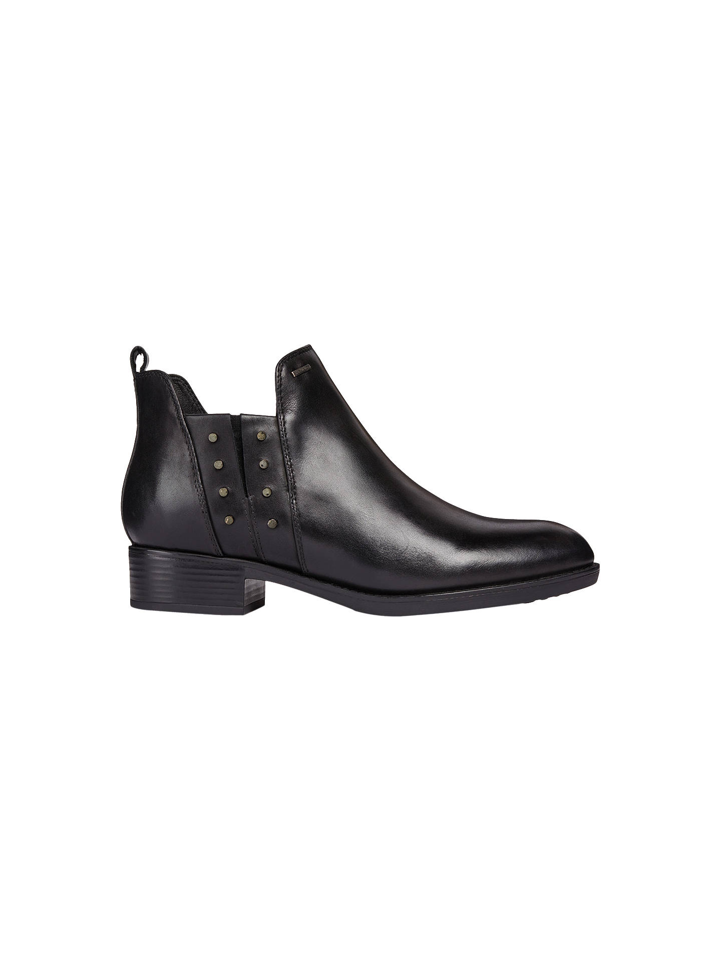 53db568243 Buy Geox Felicity D Studded Ankle Boots, Black Leather, 3 Online at  johnlewis.