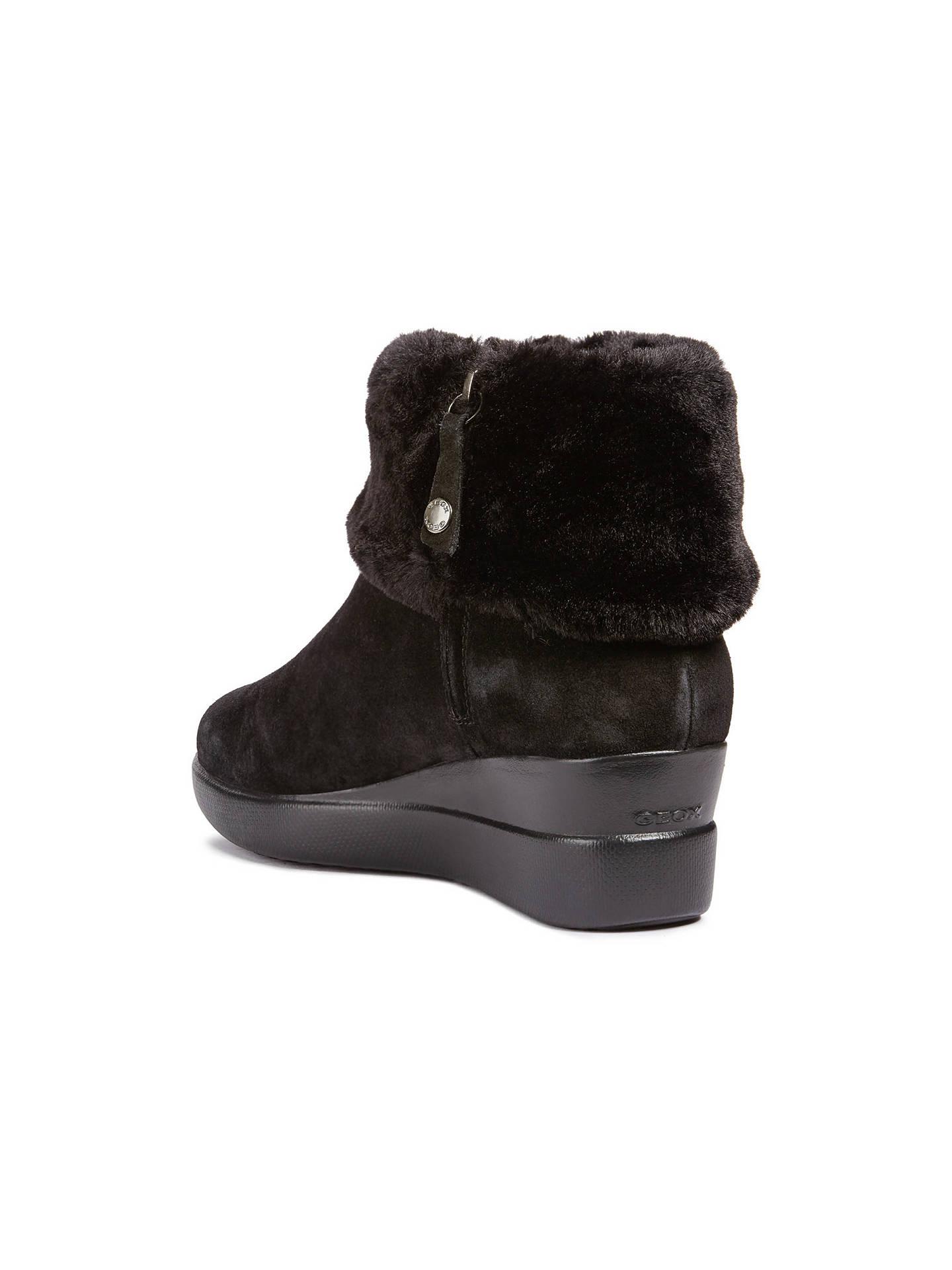 052bcccb43ff Buy Geox Women's Stardust Wedge Heel Boots, Black Suede, 3 Online at  johnlewis.
