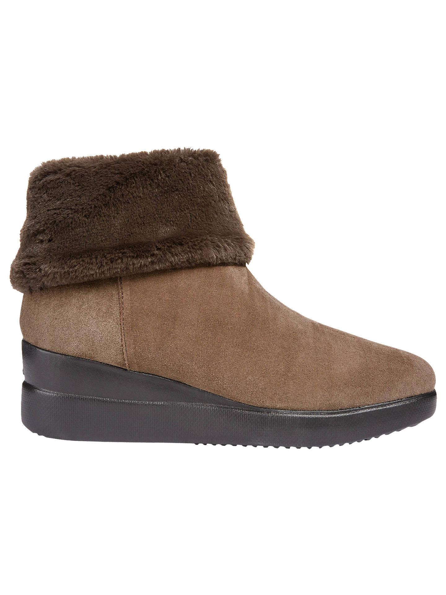 dca24ba391d47 Buy Geox Women's Stardust Wedge Heel Boots, Brown Suede, 3 Online at  johnlewis.