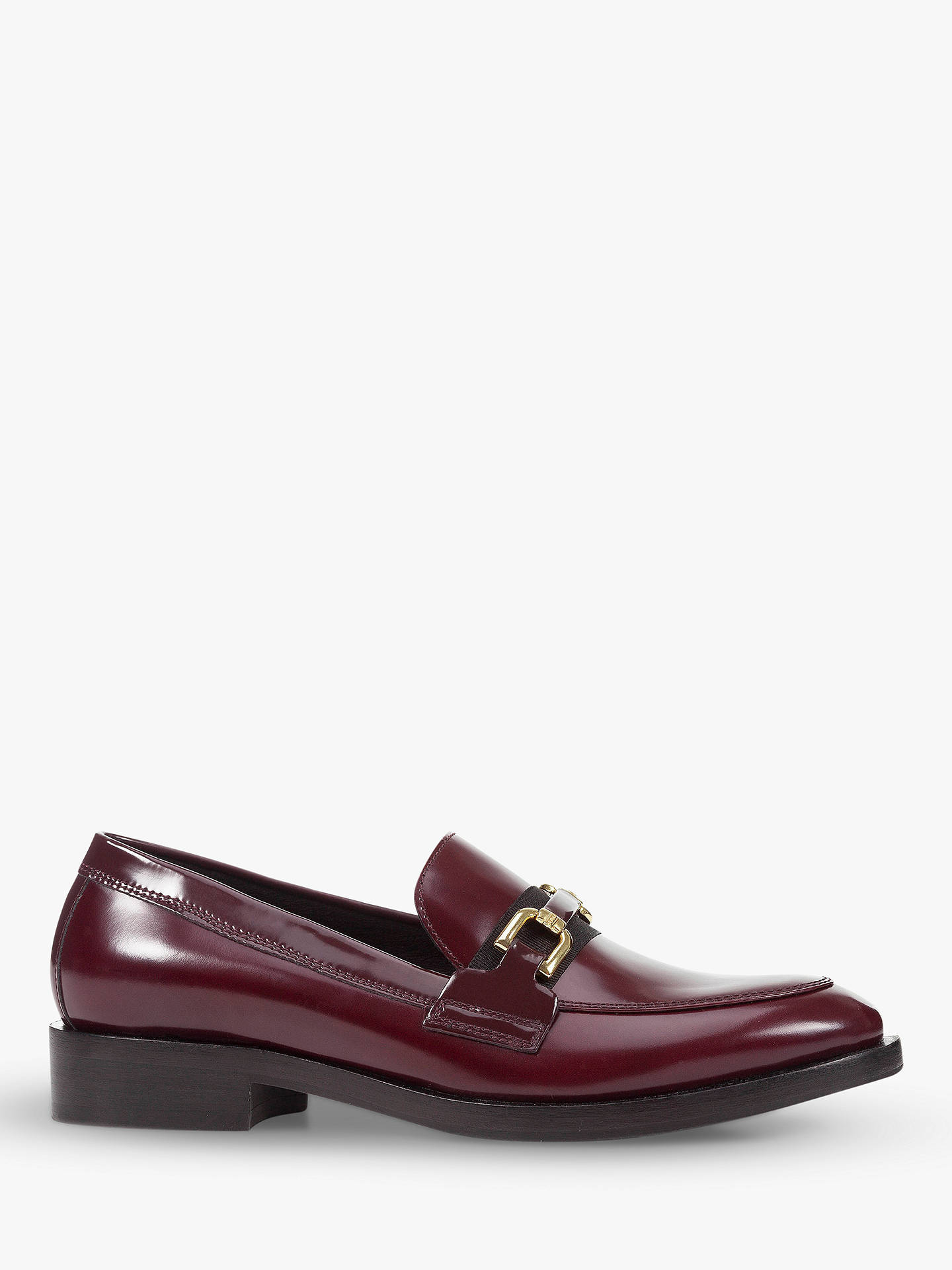 Derecho Pasado Cielo  Geox Women's Donna Loafers, Red Leather at John Lewis & Partners