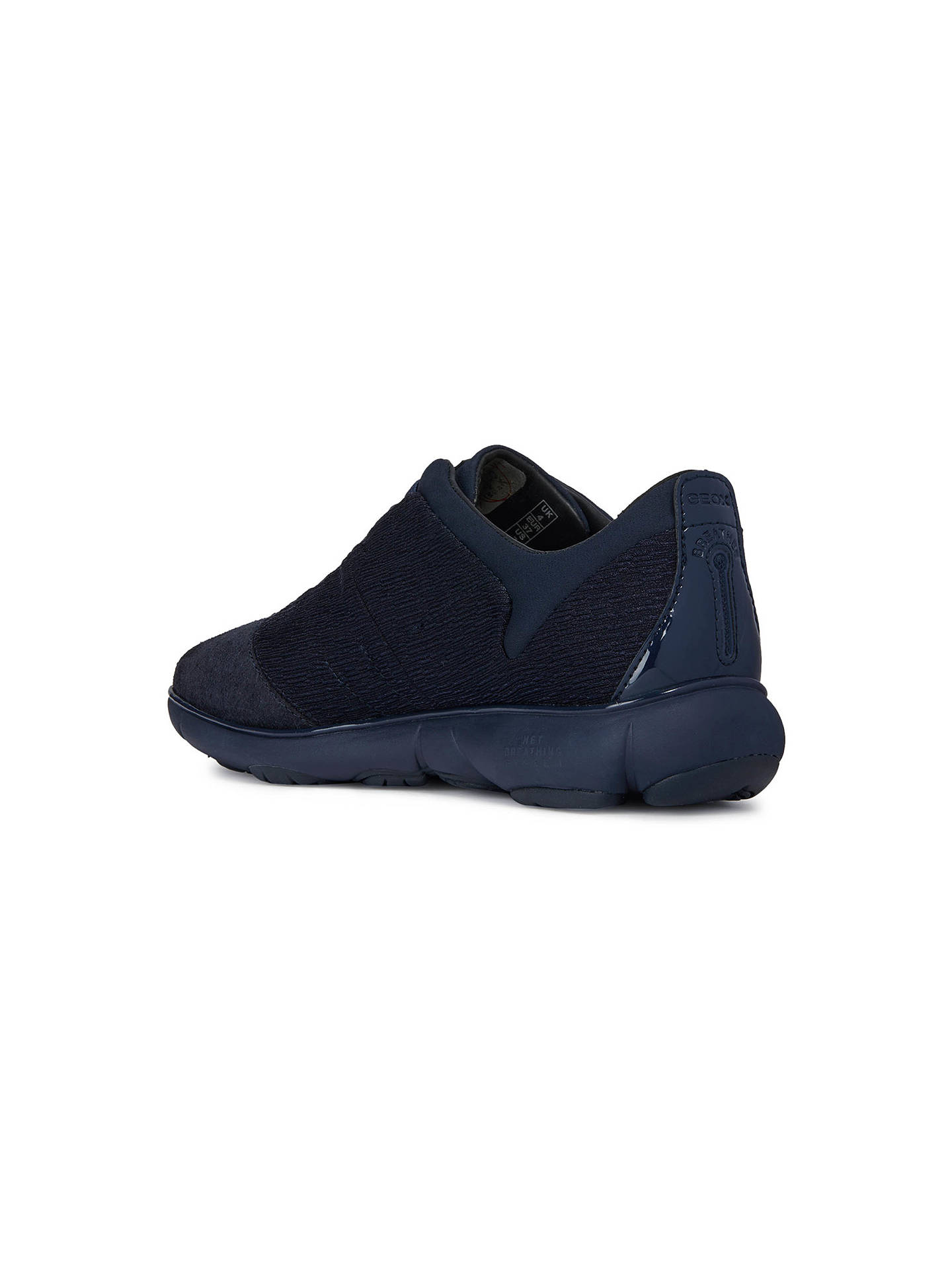 f5c70e5ba52 Buy Geox Women's Nebula Breathable Slip On Trainers, Blue, 3 Online at  johnlewis.