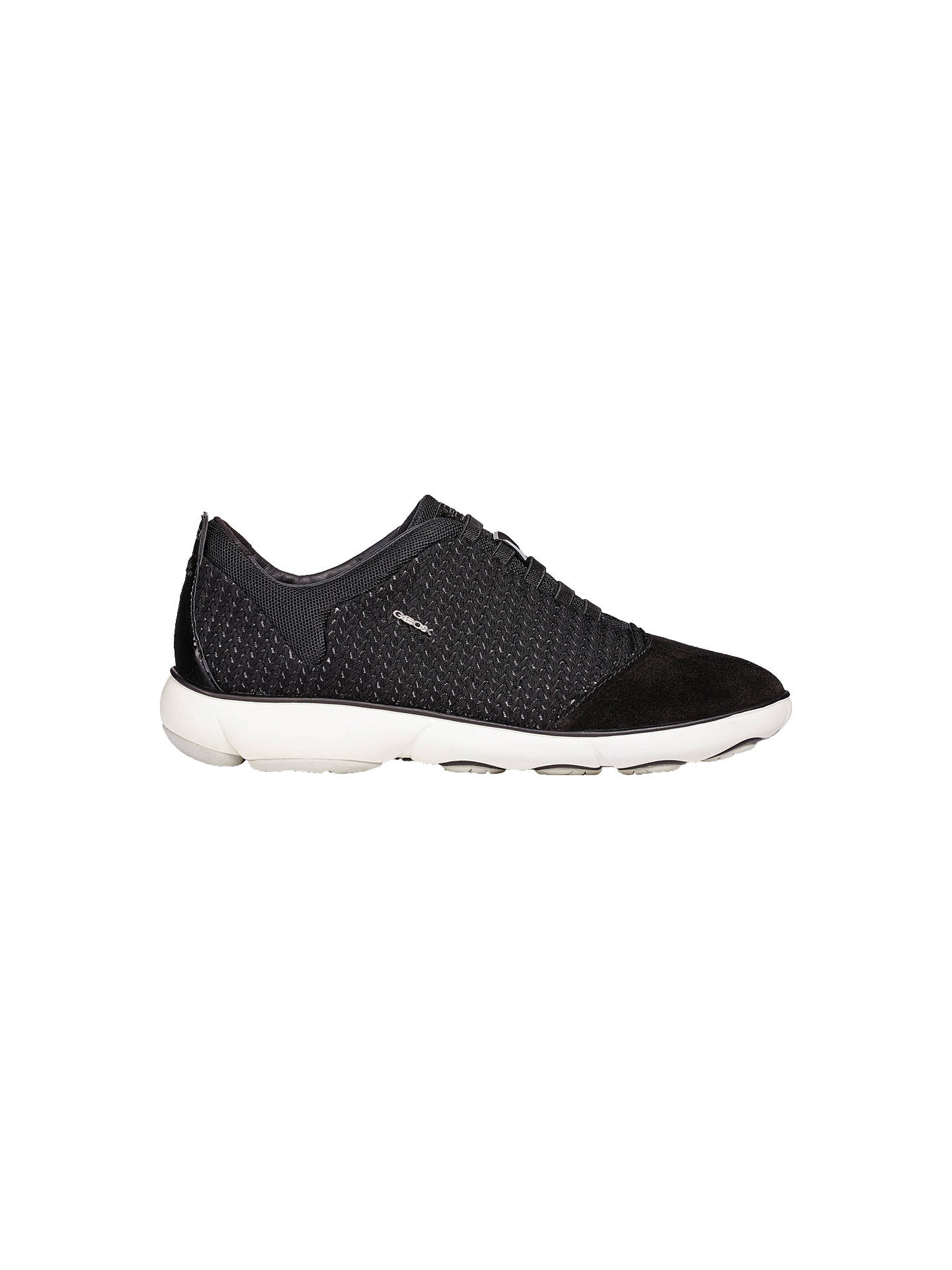 b059a61e32f Buy Geox Women's Nebula Breathable Slip On Trainers, Black, 7 Online at  johnlewis.