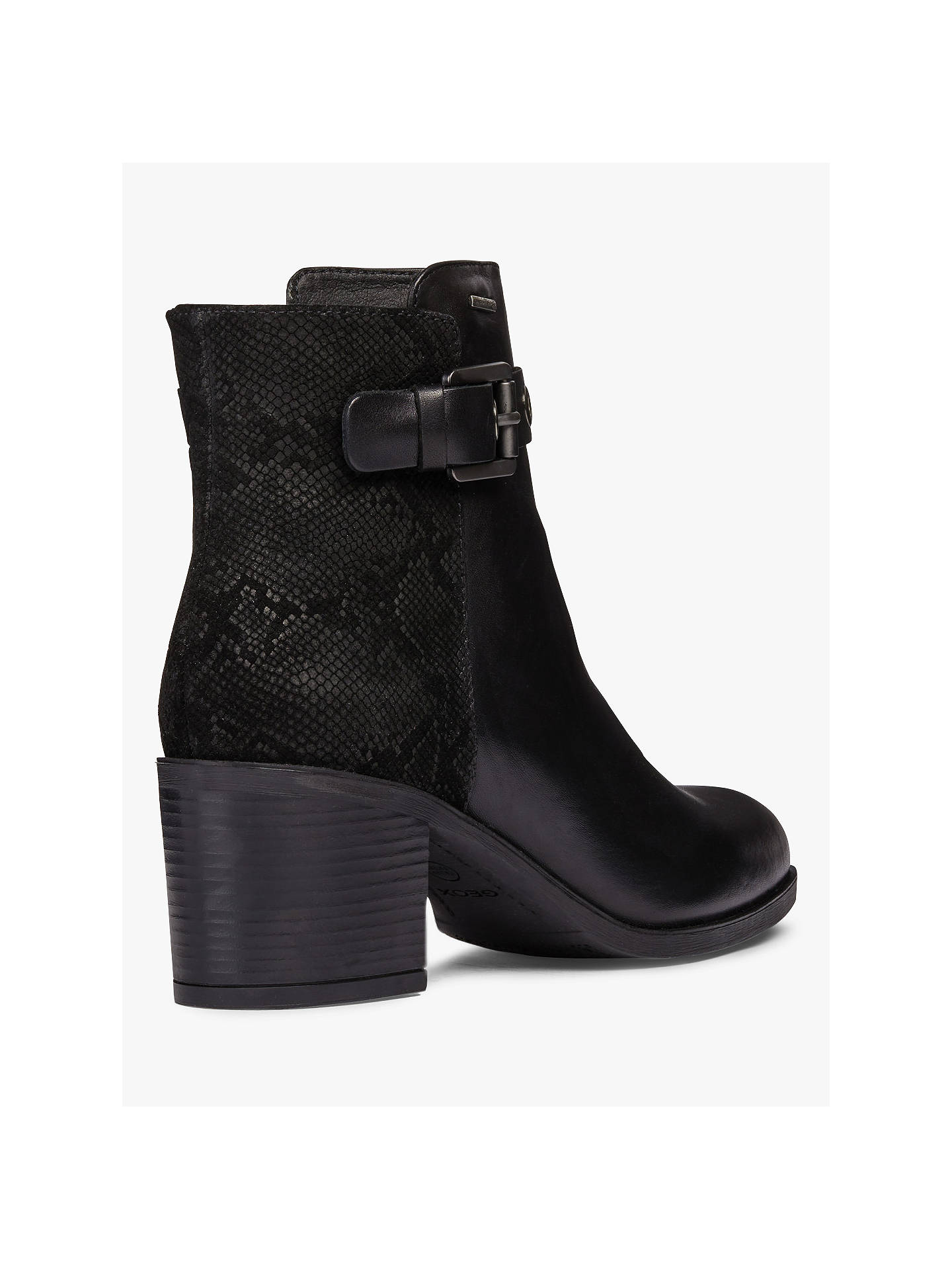 Geox Glynna Buckle Block Heeled Ankle Boots at John Lewis
