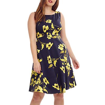 Studio 8 Charissa Floral Dress, Navy/Multi