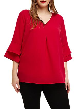 Studio 8 Kelly Fluted Sleeve Top, Raspberry