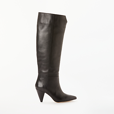 Kin Sibylla Leather Cone Heel Knee High Boots