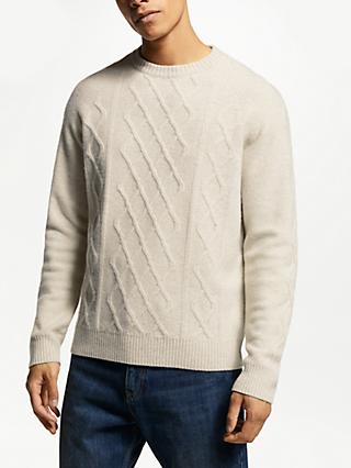 JOHN LEWIS & Co. Merino Yak Cable Knit Jumper