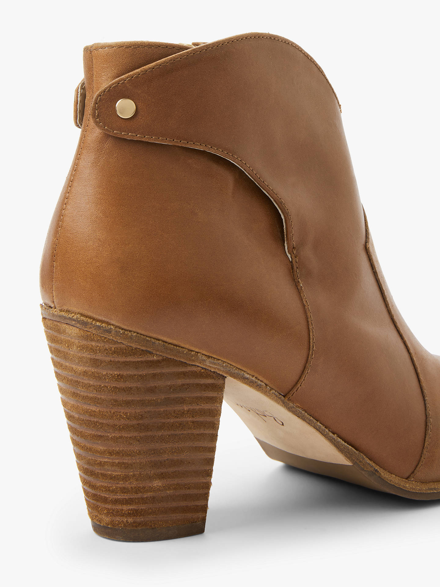 BuyBoden Hoxton Heeled Ankle Boots, Tan Leather, 4 Online at johnlewis.com