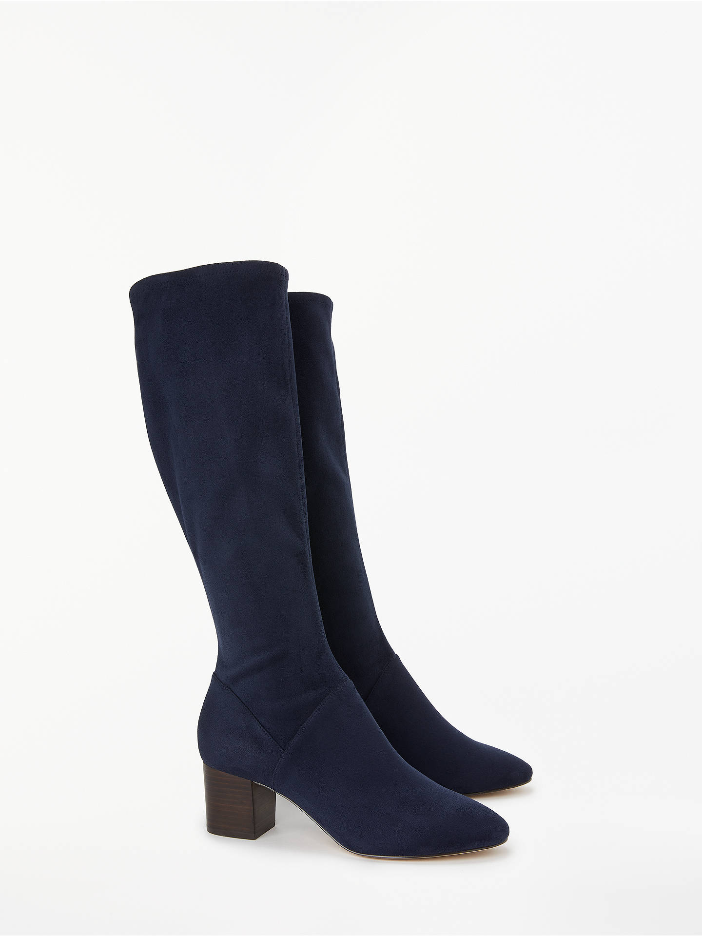 BuyBoden Round Toe Stretch Boots, Navy, 5 Online at johnlewis.com