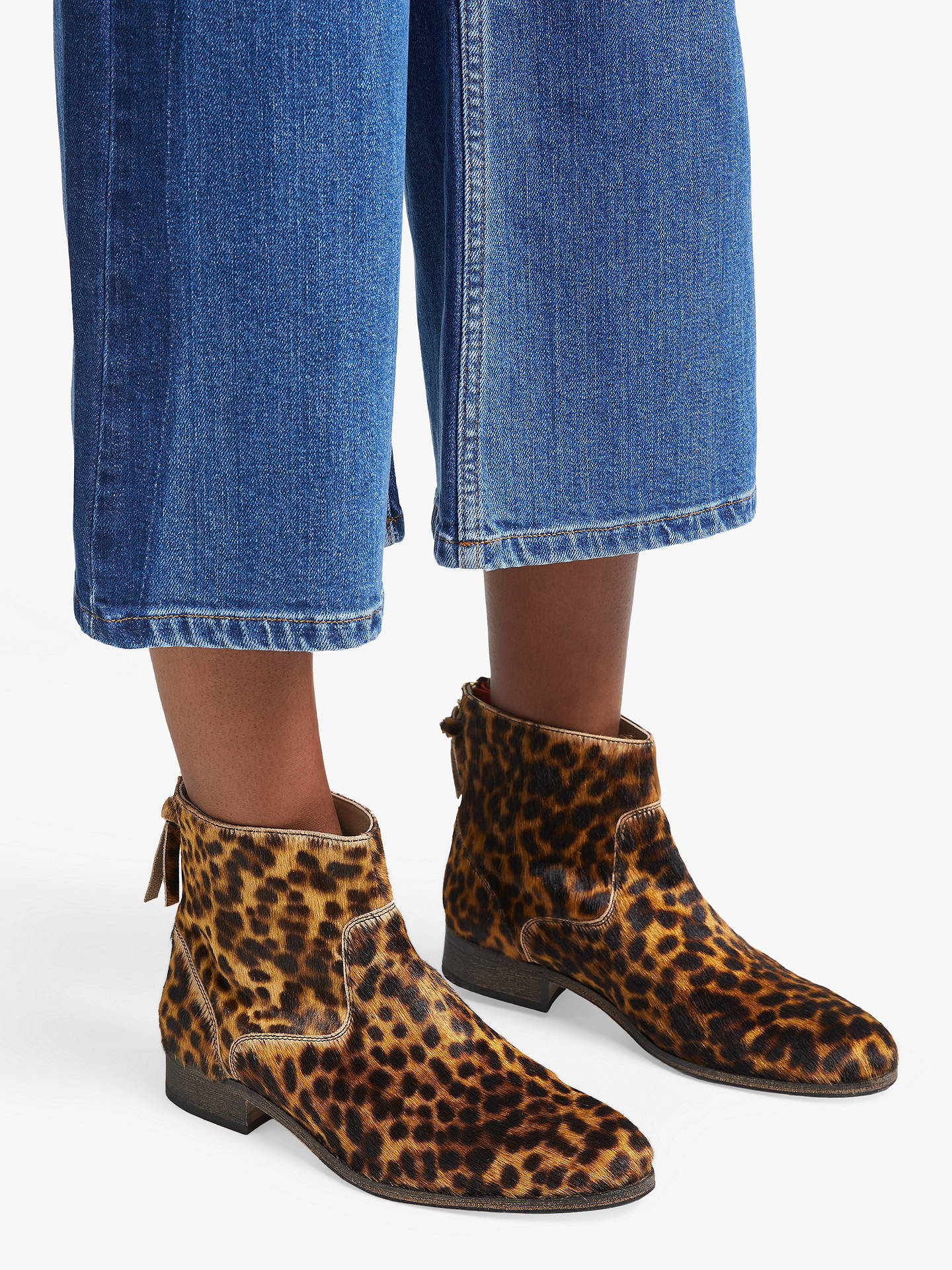 variety design beauty reasonable price Boden Kingham Ankle Boots, Tan Leopard Suede