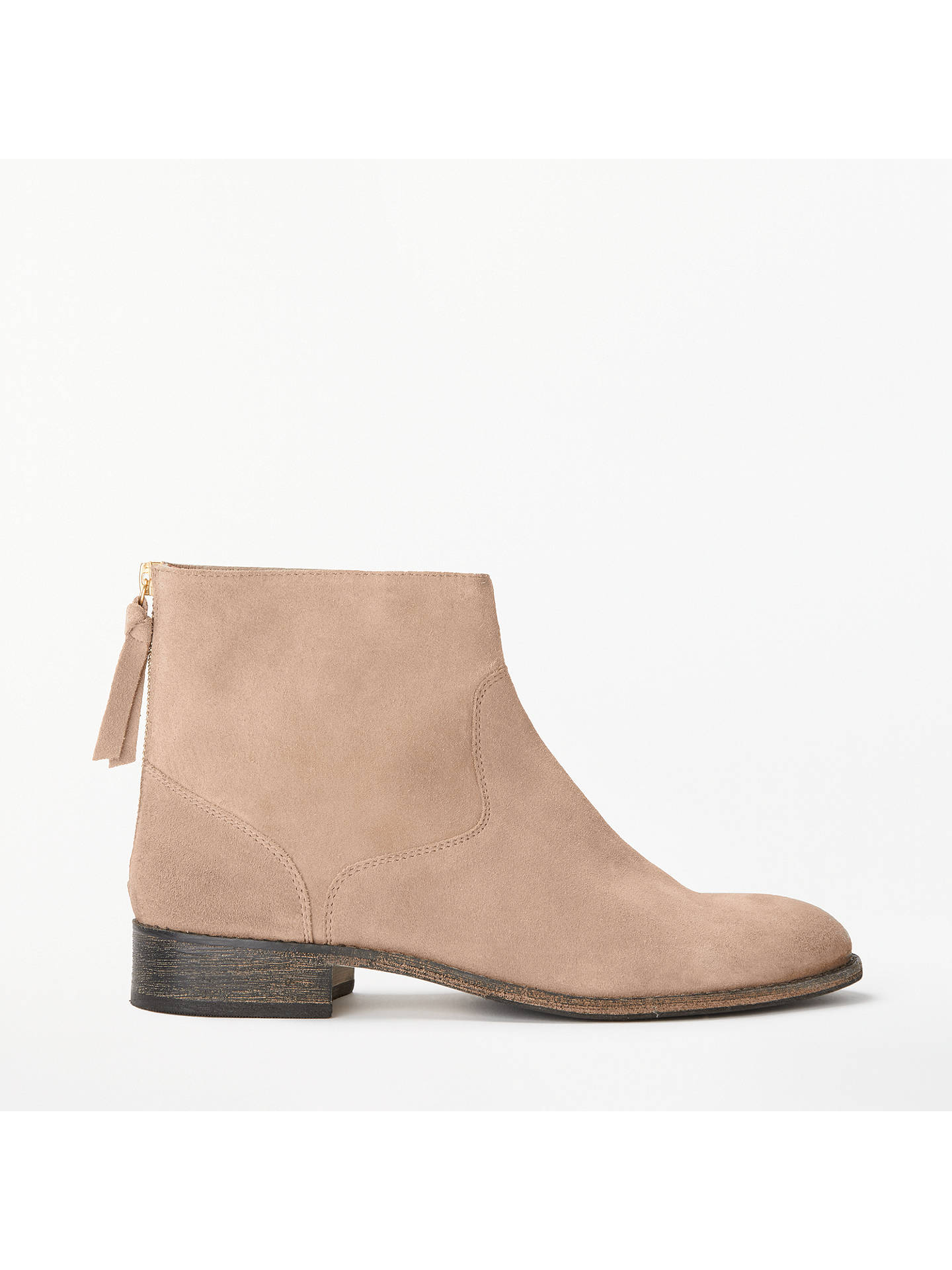 Buy Boden Kingham Ankle Boots, Soft Truffle Suede, 4 Online at johnlewis.com