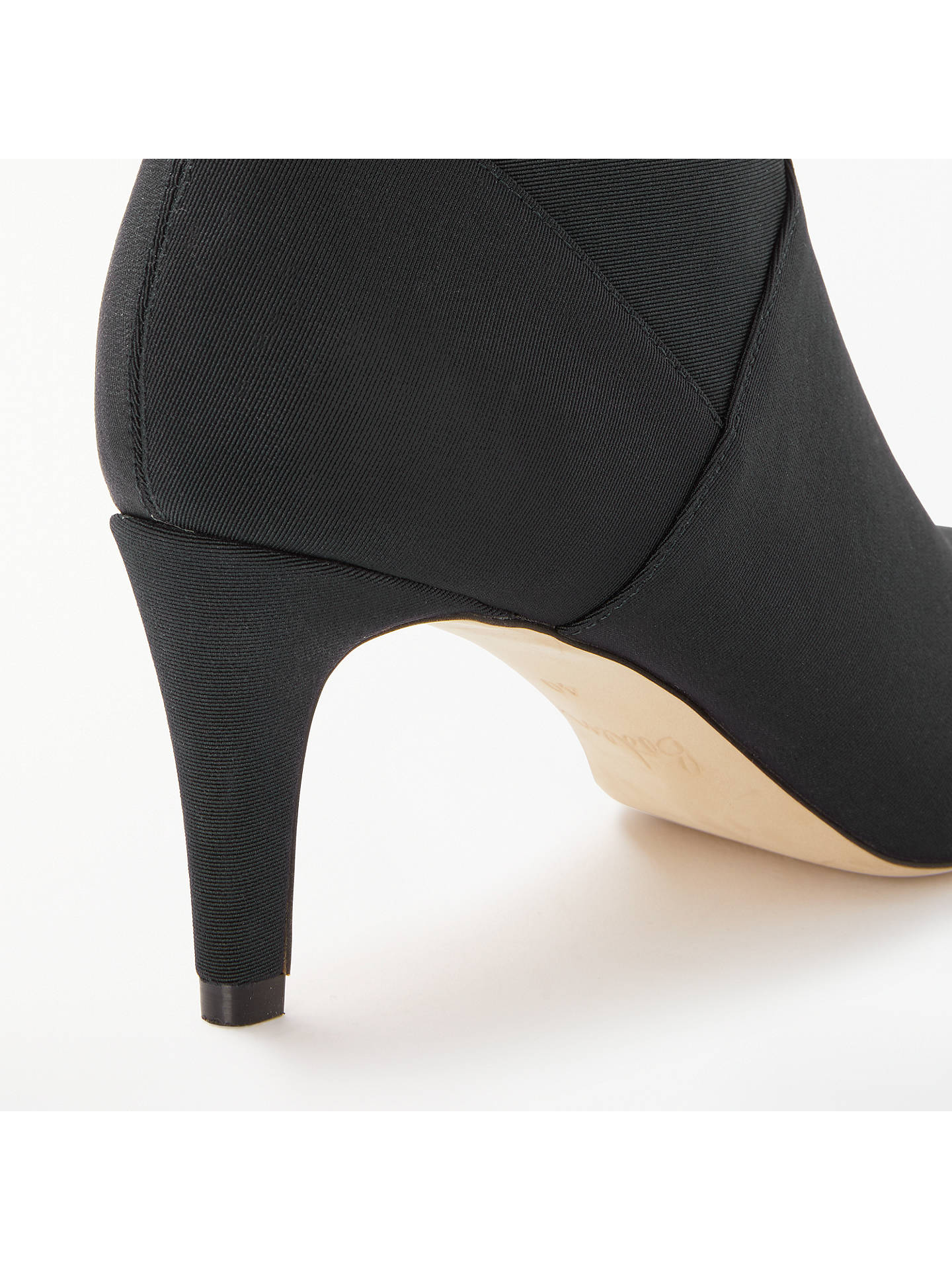 BuyBoden Stretch Stiletto Heel Ankle Boots, Black, 4 Online at johnlewis.com