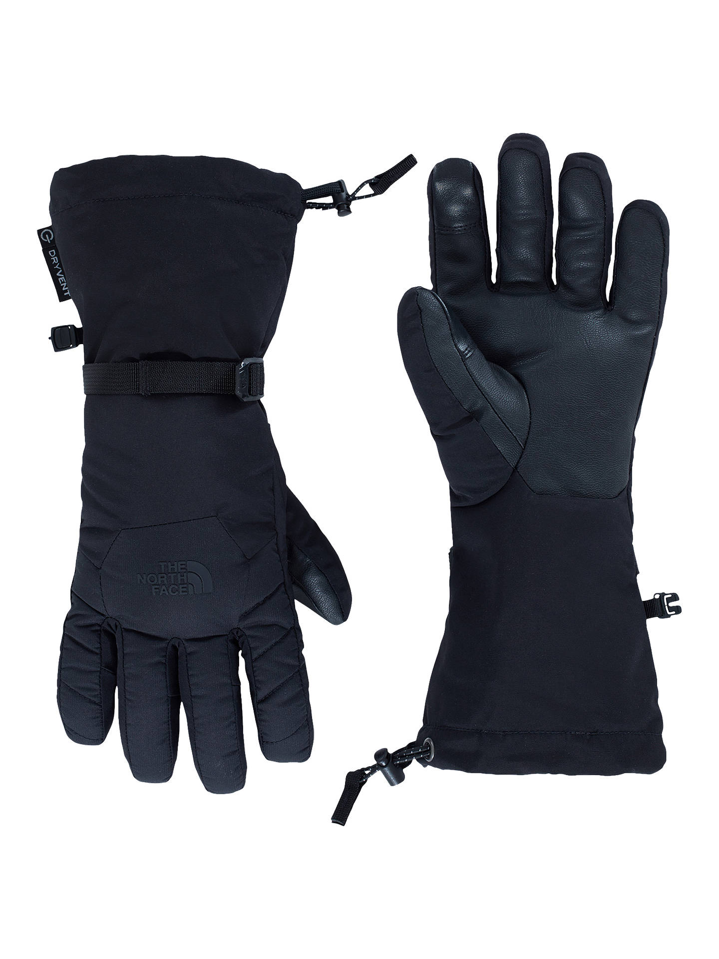 BuyThe North Face Waterproof Alpine Ski Gloves, Black, S Online at johnlewis.com