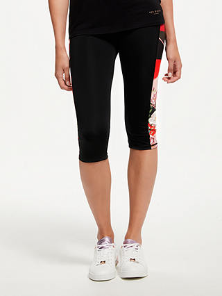 Buy Ted Baker Fit to a T Bloom Cropped Yoga Pants, Xmid Red, XS Online at johnlewis.com