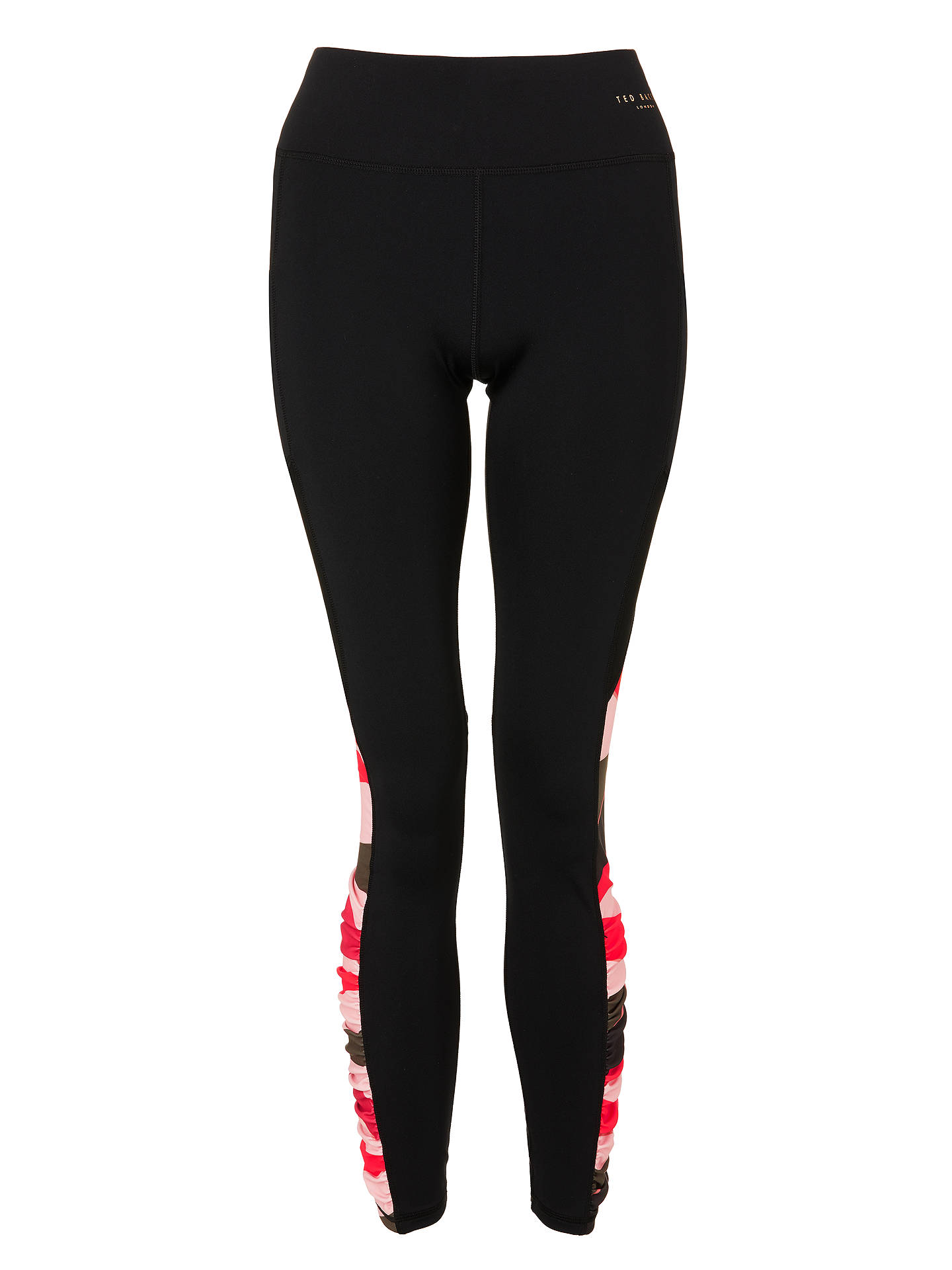 BuyTed Baker Fit to a T Sahara Bloom Panel Yoga Leggings, Xmid Red, XS Online at johnlewis.com