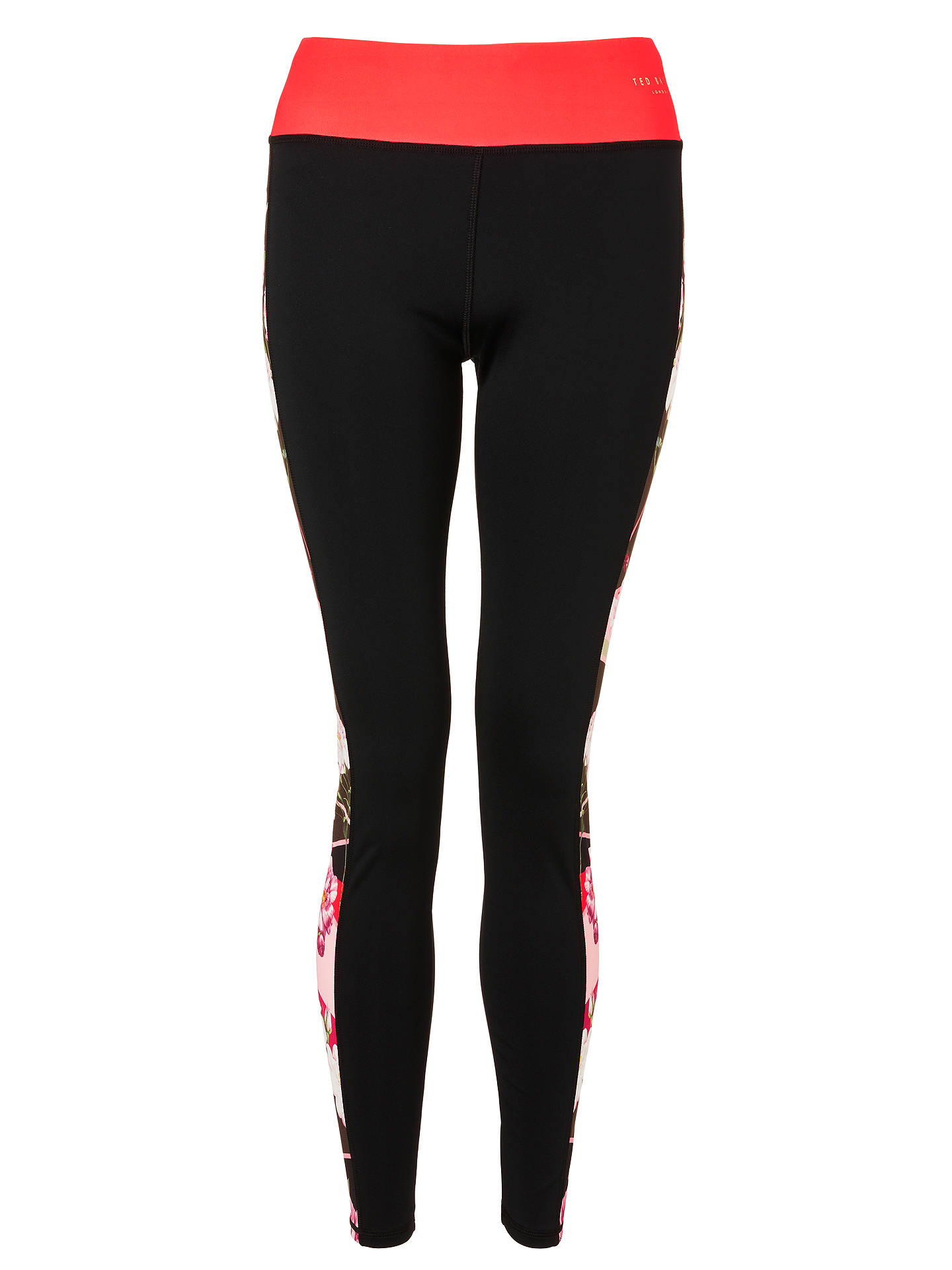 Buy Ted Baker Bloom Panel Yoga Pants, Xmid Red, XS Online at johnlewis.com