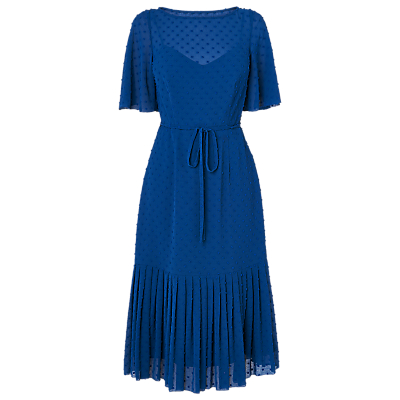 L.K.Bennett Boe Spot Dress, Hockney Blue