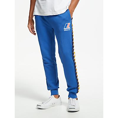 Image of K-Way Kapa Jersey Track Pant Trousers, Blue Royal