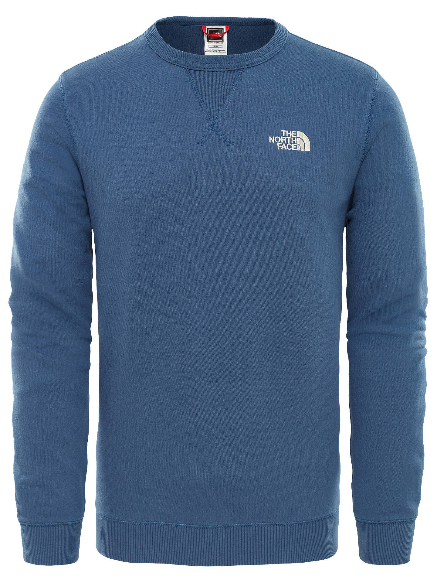 Buy The North Face Straight Fleece Pullover, Shady Blue/Vintage White, L Online at johnlewis.com