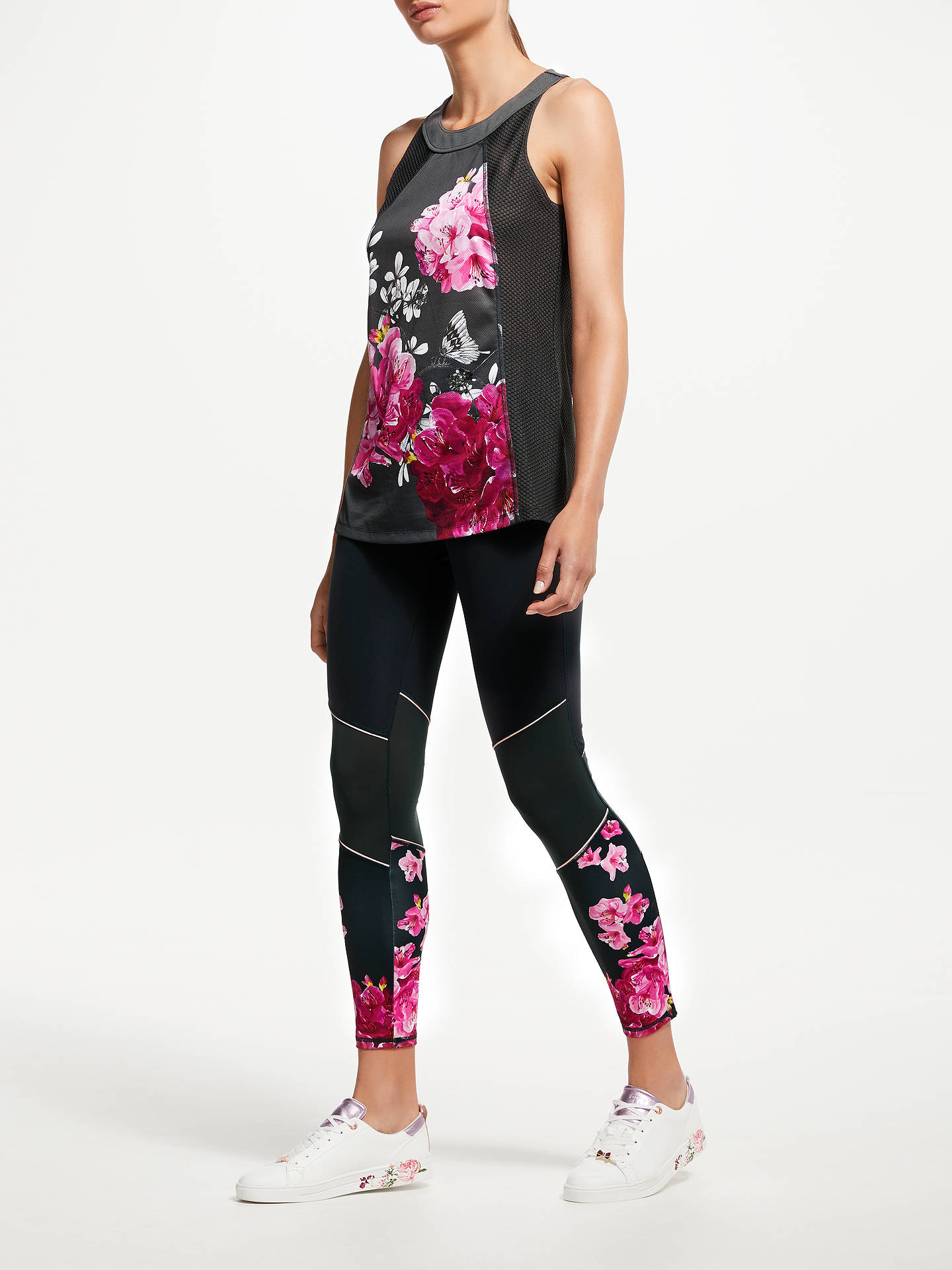 Buy Ted Baker Fit to a T Babylon Printed Racer Back Vest, Grey, S Online at johnlewis.com