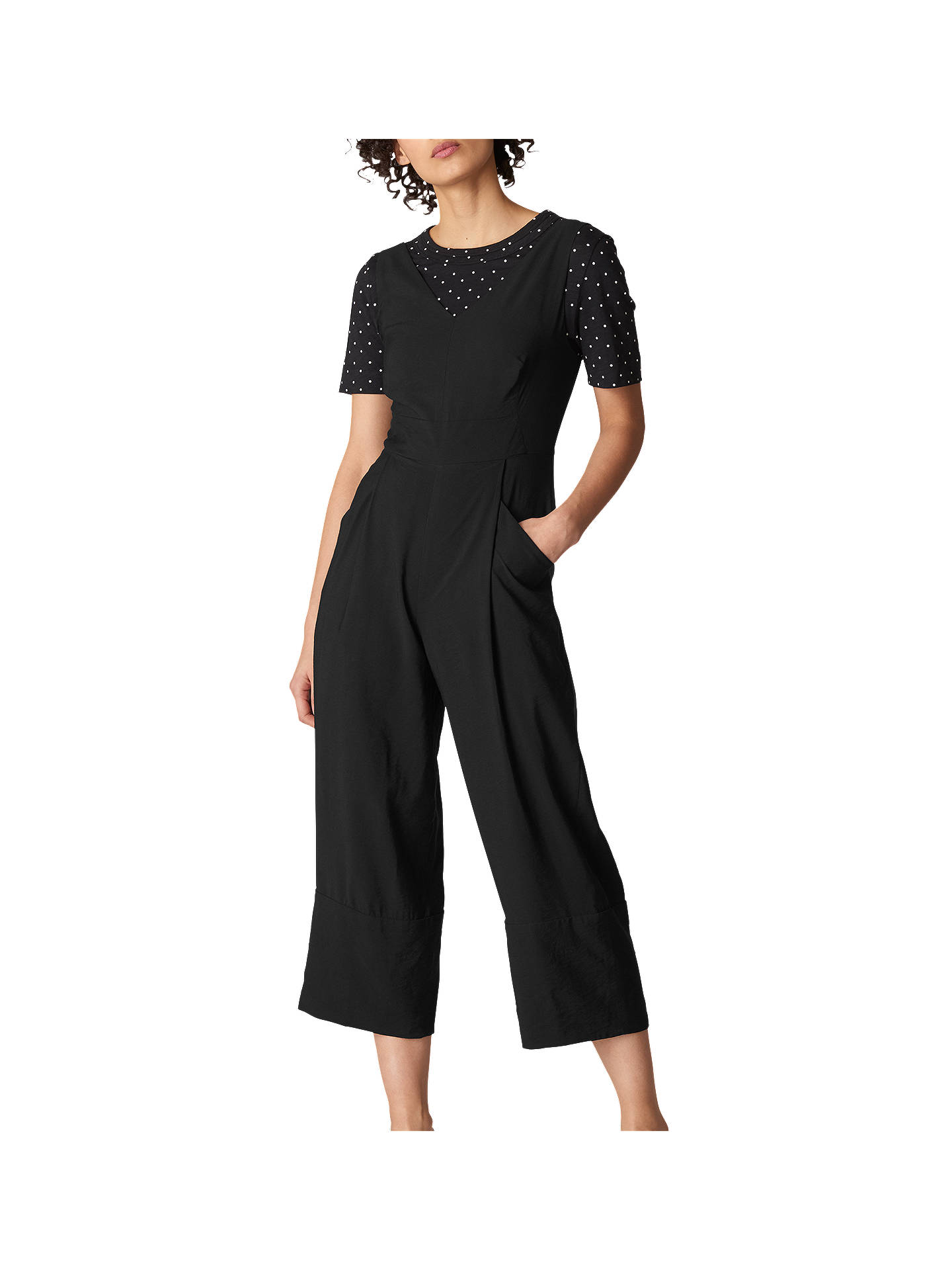 Whistles Casual Jumpsuit, Black at John Lewis & Partners