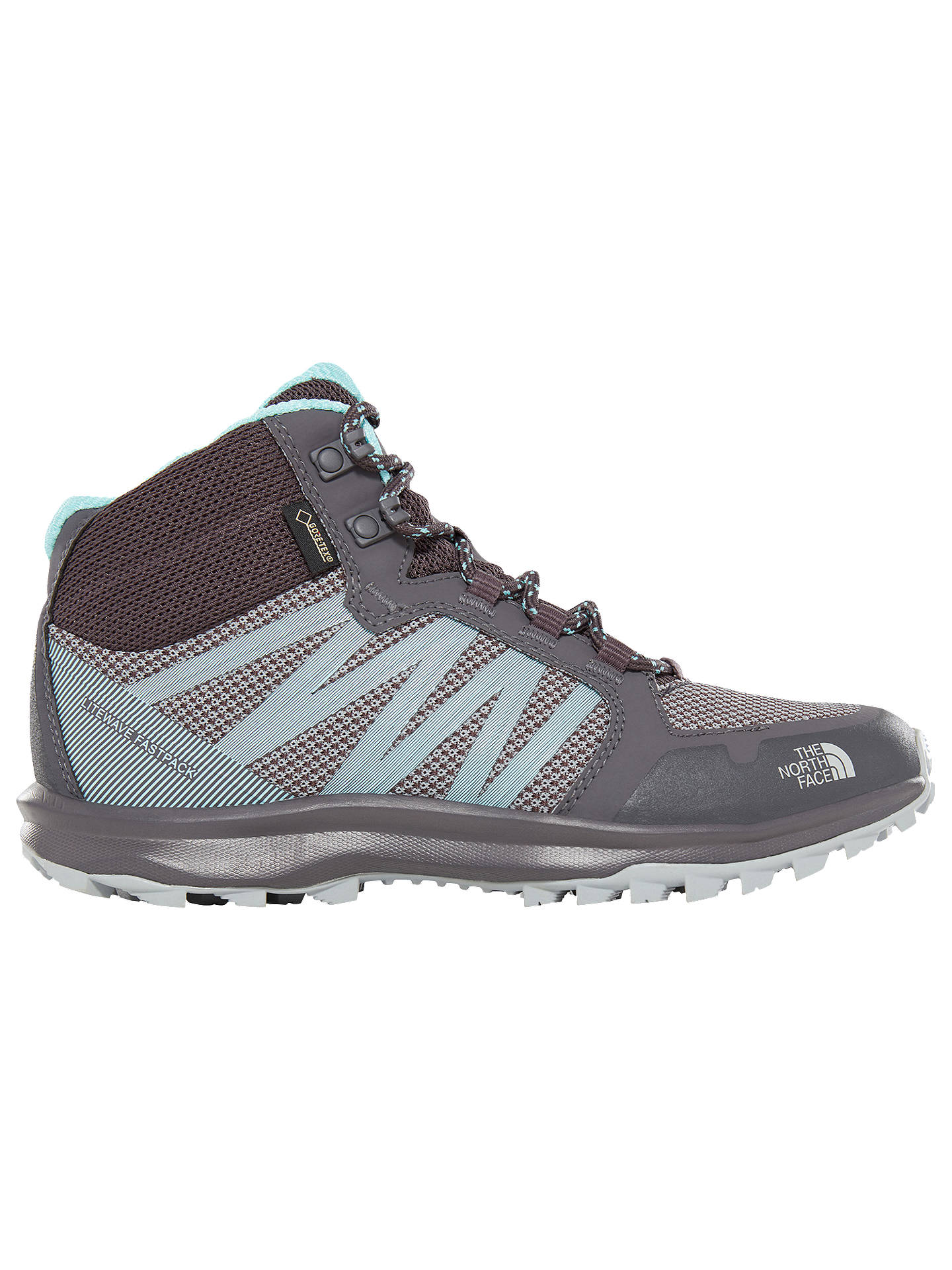 Buy The North Face Litewave Fastpack Mid GTX Women's Hiking Shoes, Blackened Pearl/Aqua, 5 Online at johnlewis.com