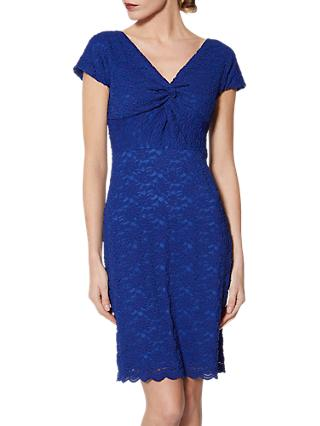 Gina Bacconi Conchita Embroidered Lace Dress, Sapphire