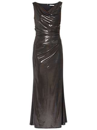 Gina Bacconi Kaia Empire Line Maxi Dress, Gunmetal