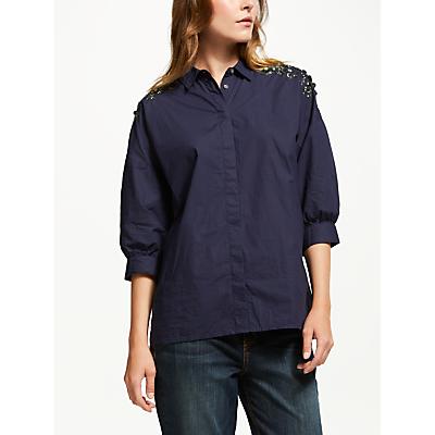 Essentiel Antwerp Retals Embellished Shoulder Shirt, China Ink