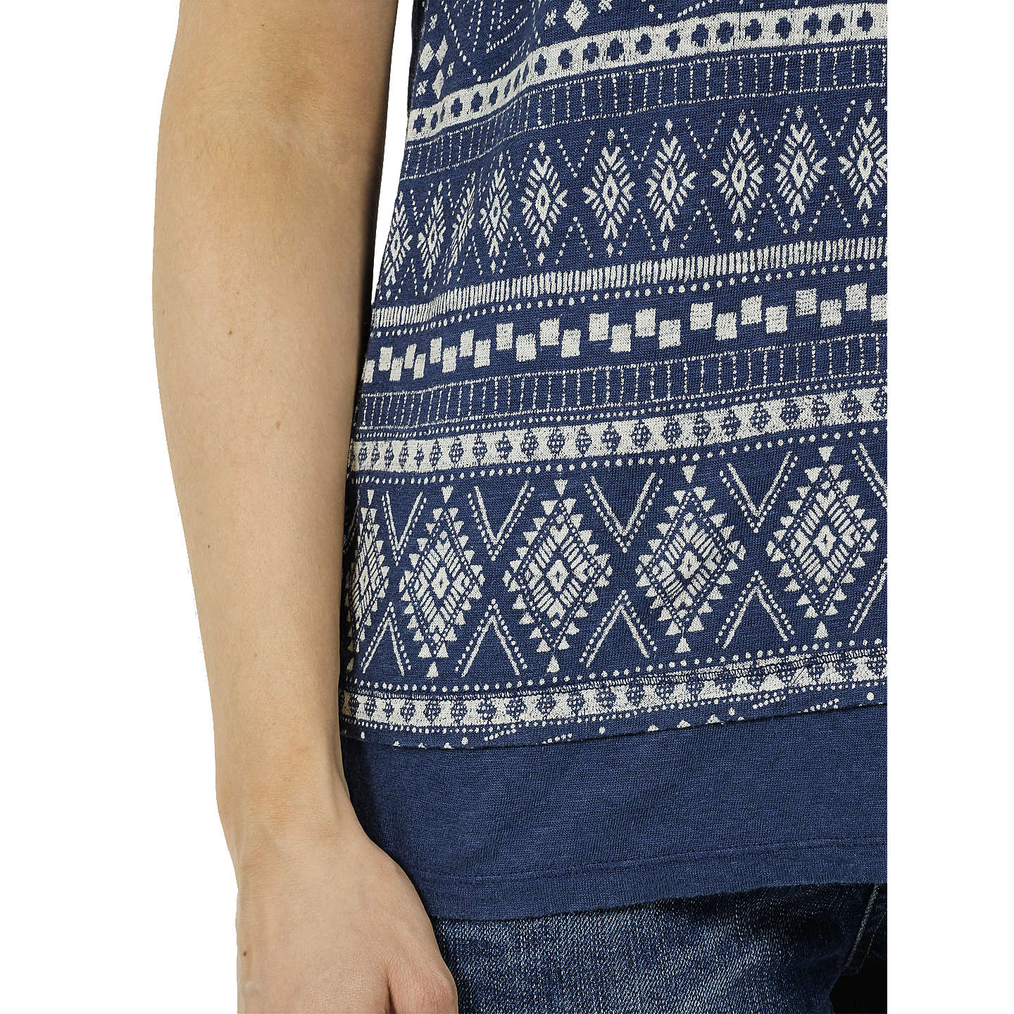 BuyFat Face Linen Tribal Cami, Indigo, 8 Online at johnlewis.com