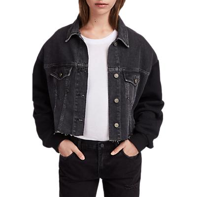 Image of AllSaints Anders Denim Jacket, Washed Black