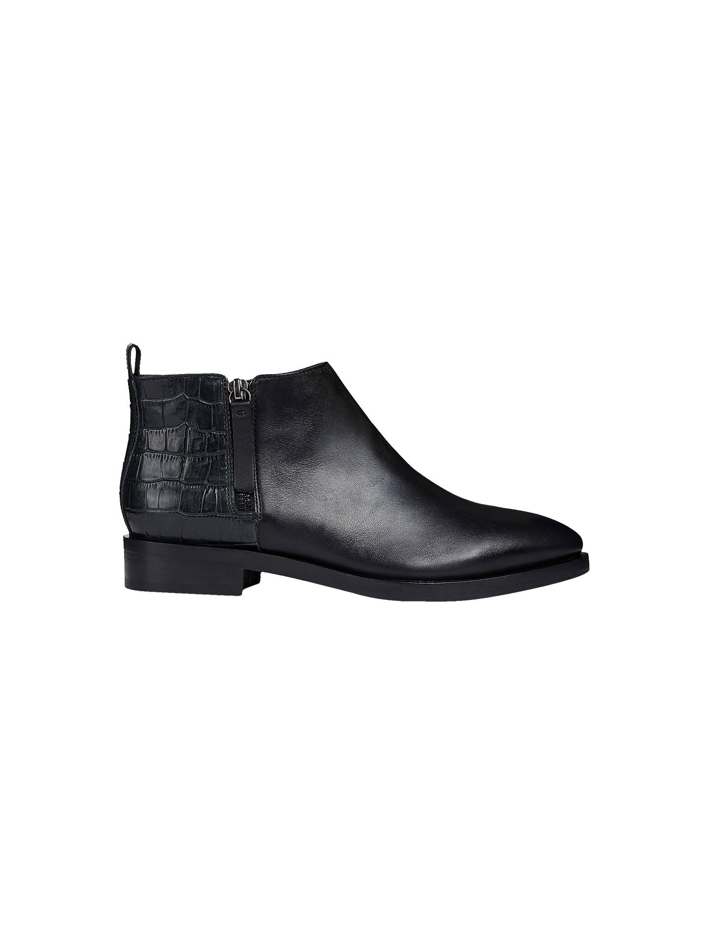 54c6fe1d1c Buy Geox Women's Donna Brogue Ankle Boots, Black Leather, 5 Online at  johnlewis.