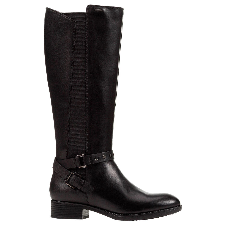 78690b0564880 Geox Women's Felicity Napa Block Heel Tall Boots, Black Leather at John  Lewis & Partners