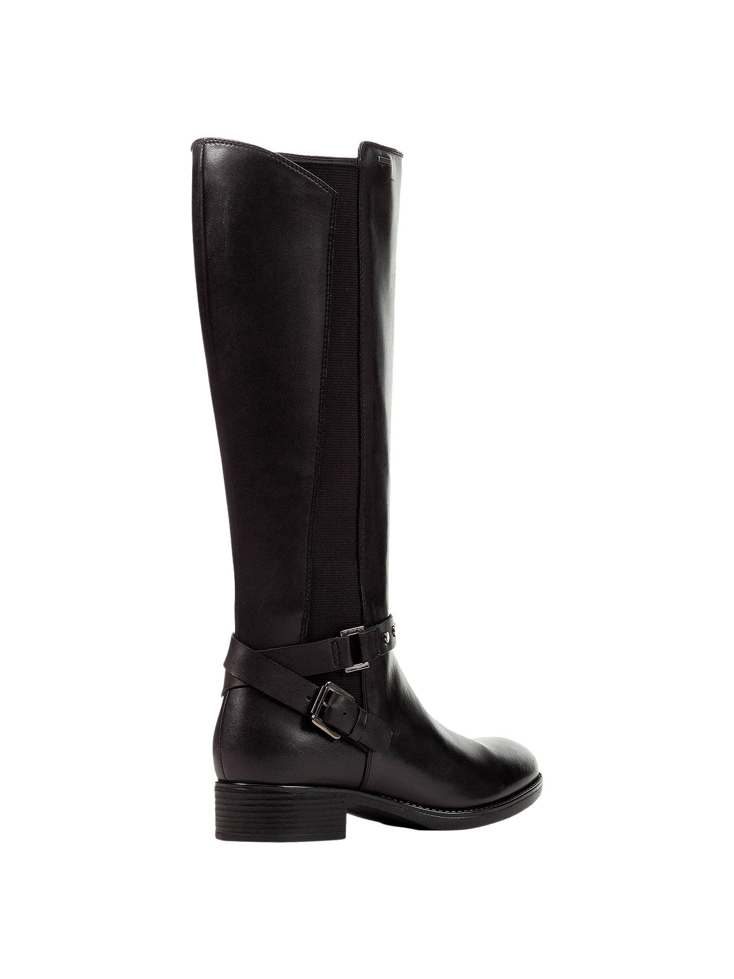 c888ac4a6e273 ... Buy Geox Women's Felicity Napa Block Heel Tall Boots, Black Leather, 4  Online at ...