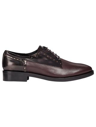 Geox Donna Lace Up Oxford Brogues, Burgundy