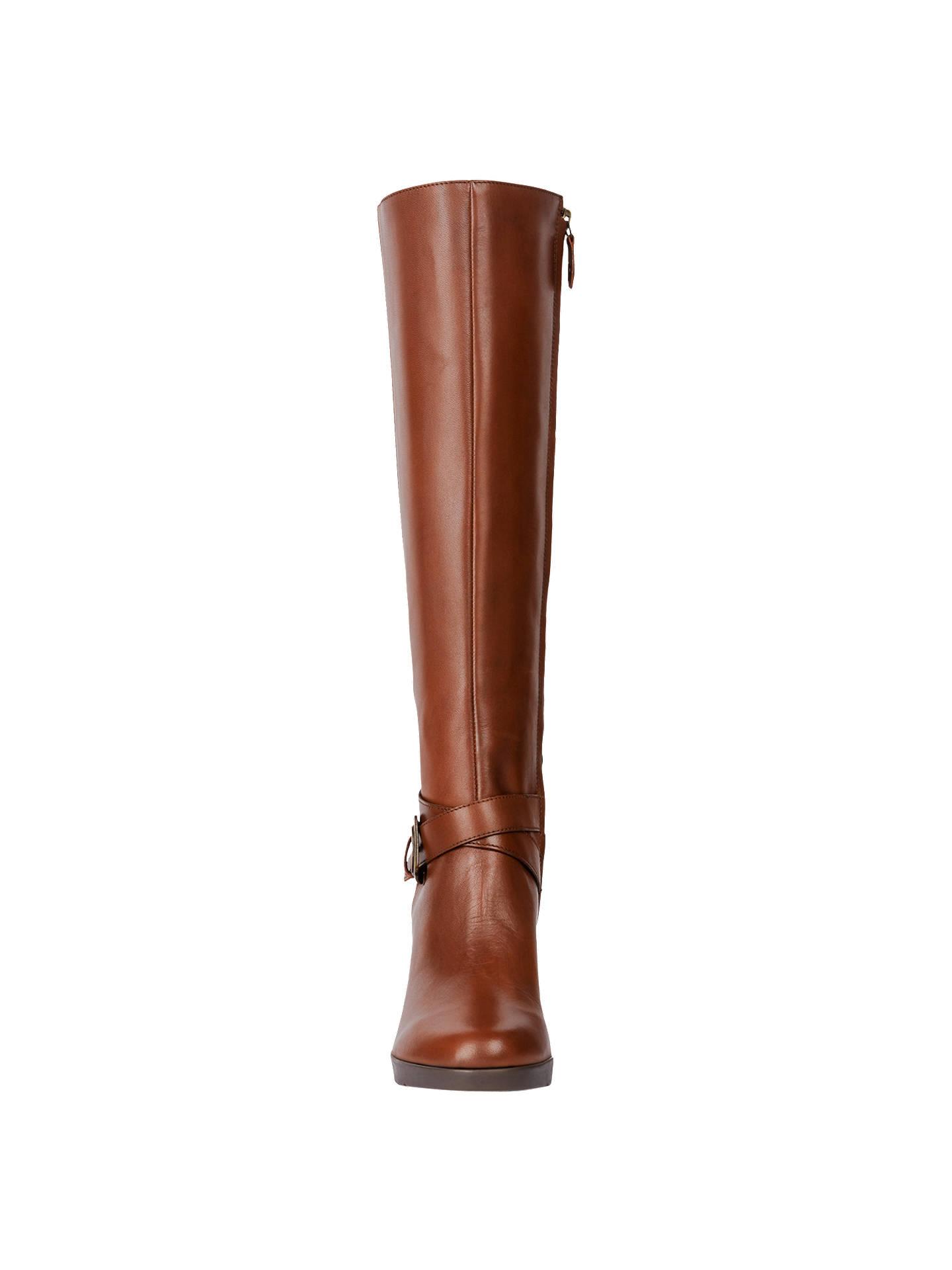 6f7208a766e Geox Women s Annya Buckle Block Heel Knee High Boots at John Lewis ...