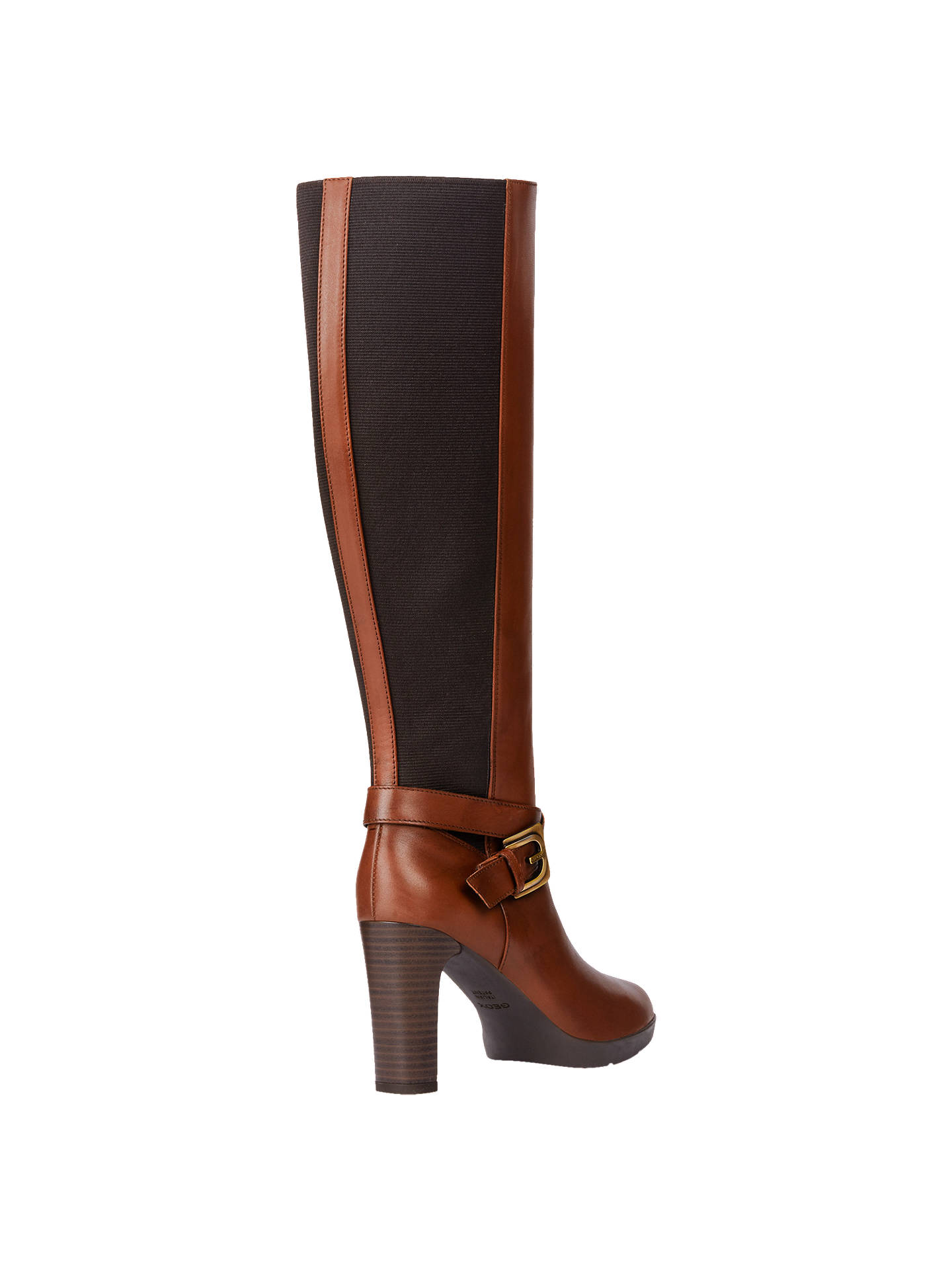 6f7208a766e Geox Women s Annya Buckle Block Heel Knee High Boots at John Lewis ...