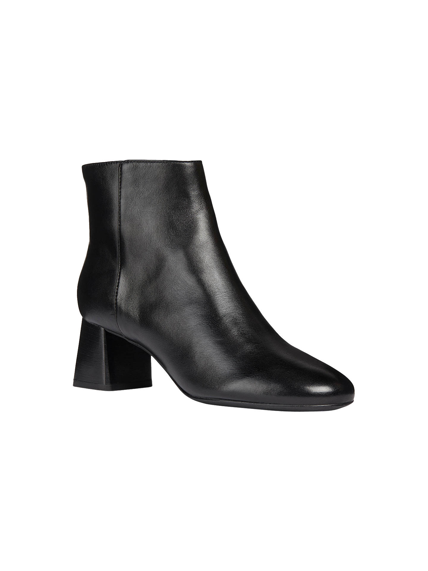 92a9e35ec0 ... Buy Geox Women's Seylise Mid Block Heel Ankle Boots, Black Leather, 4  Online at ...