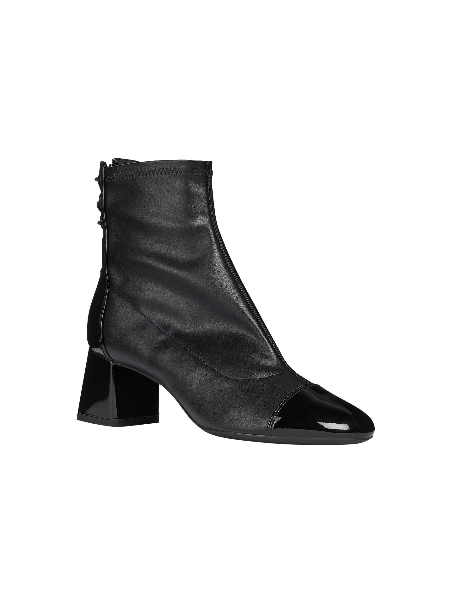 d4461746f6 ... Buy Geox Women's Block Heel Lace Back Ankle Boots, Black, 6 Online at  johnlewis ...