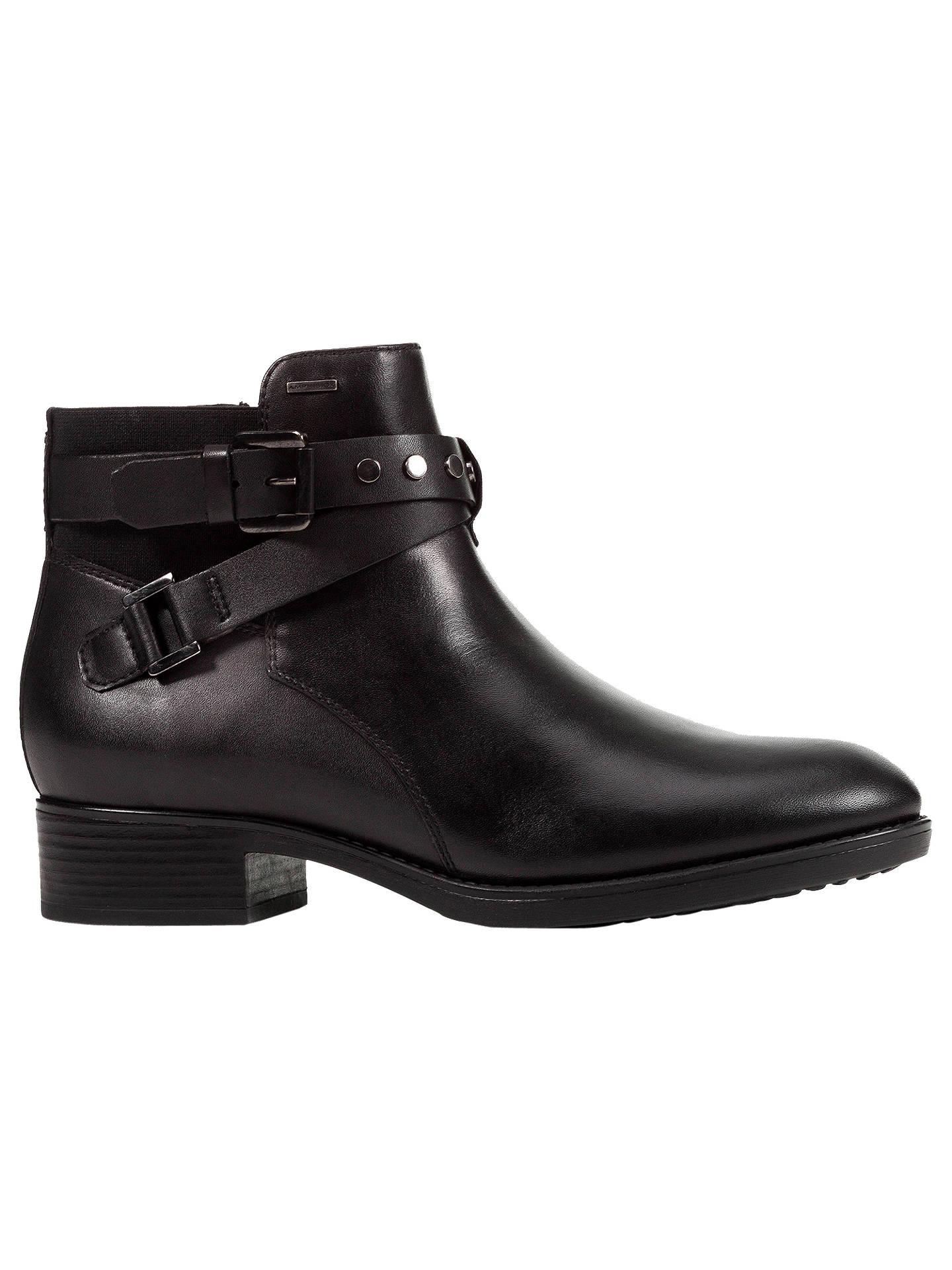 282b37df85134 Buy Geox Women's Felicity Napa Block Heel Ankle Boots, Black Leather, 5  Online at ...