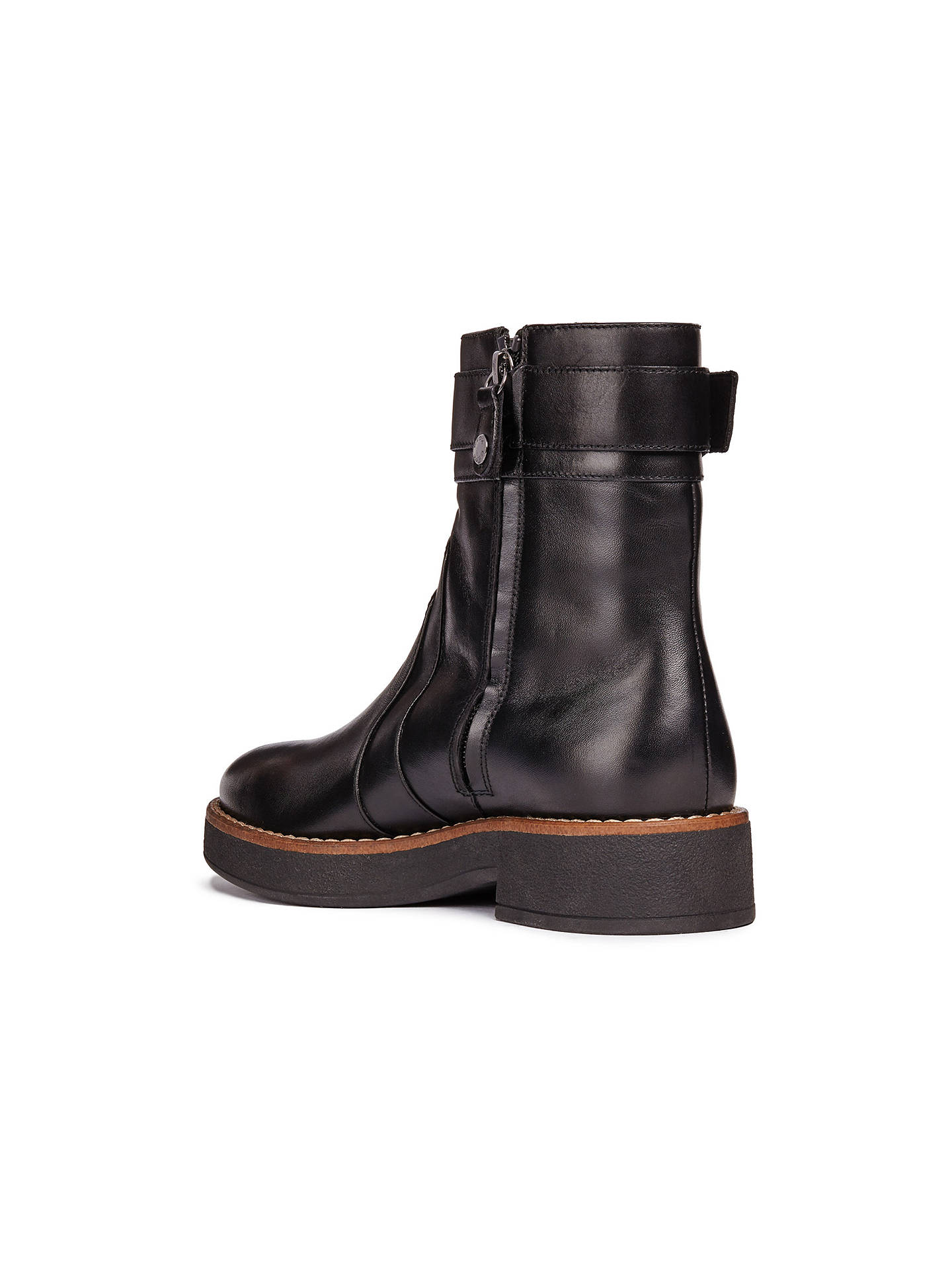 Geox Women's Adrya Ankle Boots, Black Leather at John Lewis