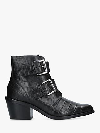 ce2e73882e57 Kurt Geiger London Denny Double Buckle Ankle Boots
