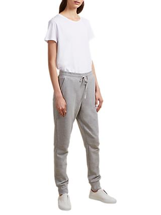 French Connection Zanna Drawstring Joggers, Mid Grey Melange